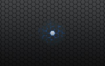 синий, серый, шестигранник