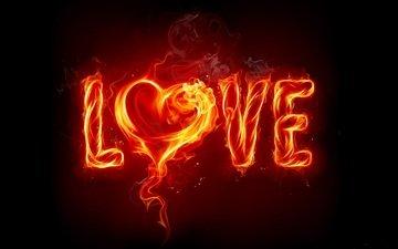 огонь, сердце, любовь