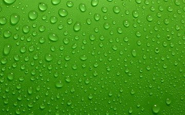 green, background, drops
