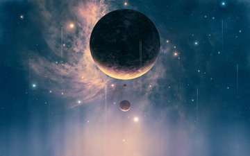 планеты, planets, космическая, spacecrafts, космические корабли, звезд