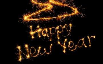новый год, слова, огоньки, с новым годом, счастливого нового года
