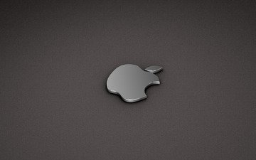 background, grey, logo, apple