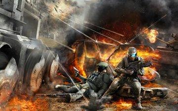 война, солдат, tom clancys, ghost recon advanced warfighter