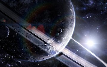 звезды, планеты, астероиды, кольцо