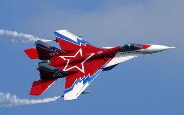 самолет, звезда, красный, миг