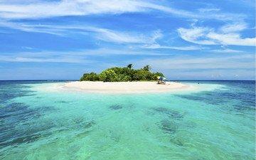 вода, остров, островки