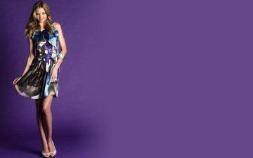 фон, платье, модель, миранда керр, сереневый