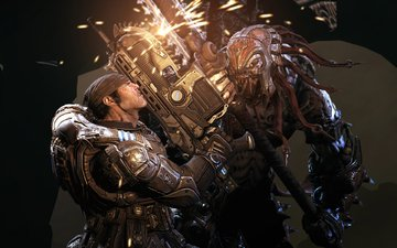 weapons, sparks, locust, gears of war 2, marcus fenix