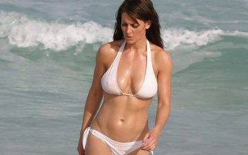 wave, white, the ocean, chest, swimsuit, press, elizabeth hurley