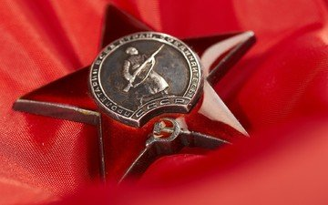 star, red, victory day, award, may 9
