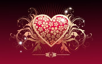 vector, heart, love