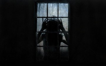 stranger, window, fear, horror
