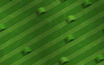 зелёный, изгибы, ленты