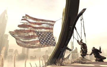 песок, солдат, spec opsthe line, американский флаг