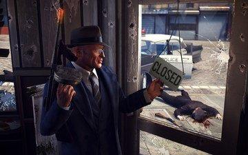 кровь, автомат, mafia2, мафия 2, бандит, закрывается