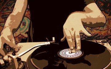 пластинка, руки, ди джей