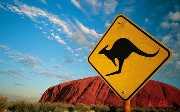 австралия, знак, кенгуру