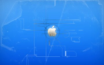 background, blue, logo, apple