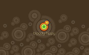 кровавое, коричневый, hippy, чертов хиппи