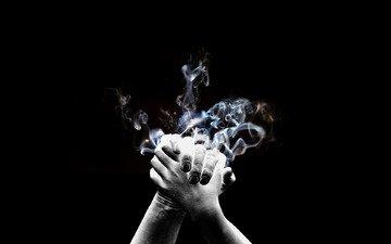 дым, руки