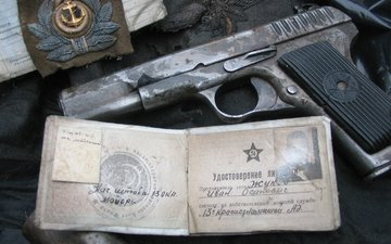пистолет, ссср, удостоверение