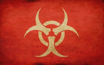 sign, biohazard, texture