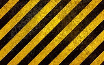 желтый, линии, черный, знак, опасность