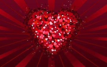 red, heart, love, valentine's day