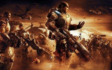 оружие, война, солдаты, gears of war, жетон
