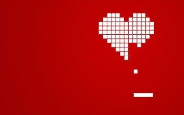 красный, сердце, кубики