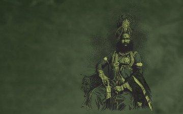 человек, клинок, maharaja de panna green, шейх