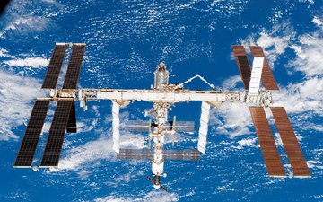 станция, на орбите, земля с космоса, мкс