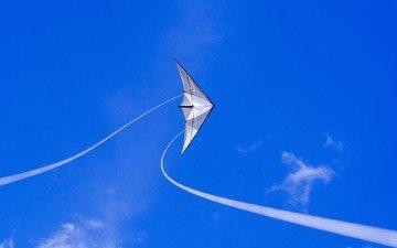 небо, синий, воздушный змей