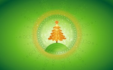 new year, tree, green