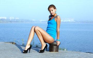 пейзаж, платье, ножки