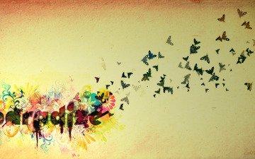 цветок, бабочка, рай