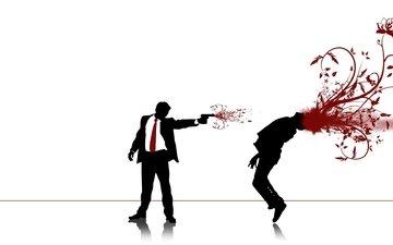 кровь, пистолет, выстрел