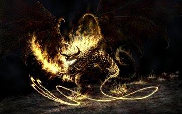 огонь, демон, властелин колец, балрог