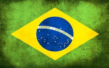 грязь, флаг, бразилия