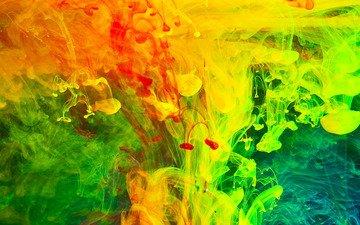 вода, дым, цветные, кожи