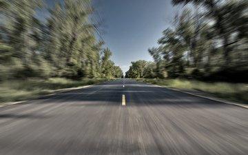 дорога, скорость, движение