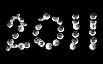 новый год, обои, праздник, алмаз, драгоценность, изумруд, 2011 год