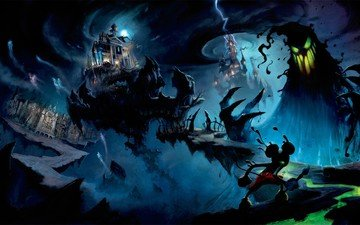 monster, evil, epic mickey, disney