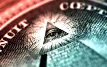 обои, макро, символ, глаз, деньги, доллар, фоновые рисунки