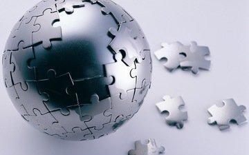 сфера, пазл, steel puzzle sphere, стальной шар