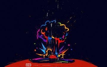 планета, взрыв, бомба