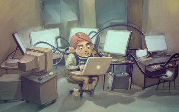 компьютер, ноутбук, программист