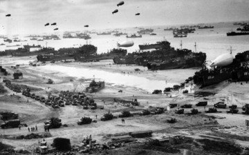 war, black and white, landing in normandy, the second world