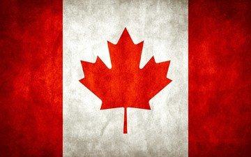 флаг, клен, канада