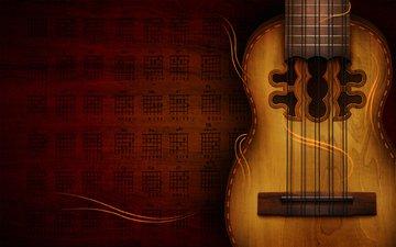 гитара, струны, лады, аккорды